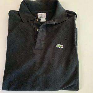 Lacoste Kids Black Long Sleeve Polo Shirt